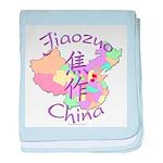 Jiaozuo China Map baby blanket