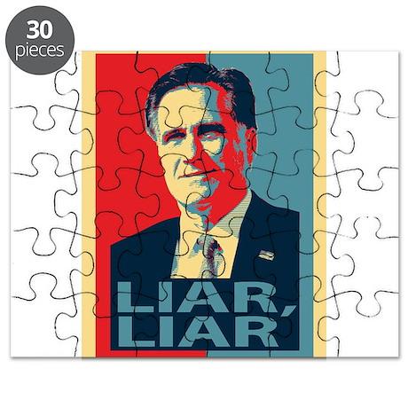 Mitt Romney Liar, Liar Puzzle