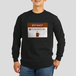 Botanist Powered by Coffee Long Sleeve Dark T-Shir