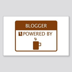 Blogger Powered by Coffee Sticker (Rectangle)