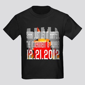The Government Is Aware 12.21.2012 Kids Dark T-Shi