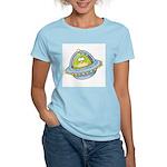Space Alien Penguin Women's Pink T-Shirt