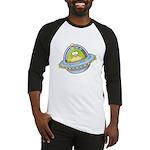 Space Alien Penguin Baseball Jersey