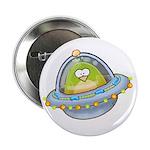 Space Alien Penguin Button