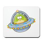 Space Alien Penguin Mousepad