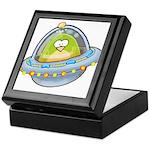 Space Alien Penguin Keepsake Box