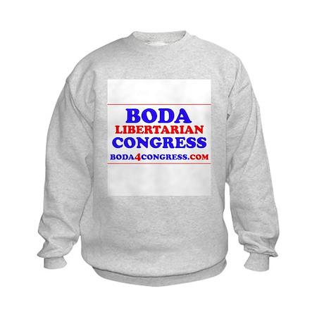 BODAback.jpg Kids Sweatshirt