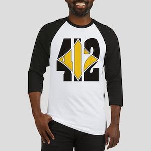 412 Black/Gold-W Baseball Jersey
