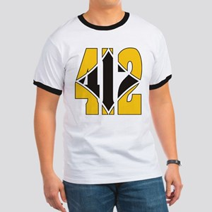 412 Gold/Black-W Ringer T