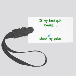 Check My Pulse Large Luggage Tag