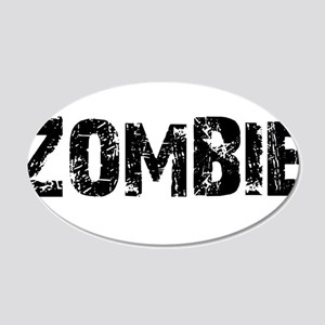 Zombie 20x12 Oval Wall Decal