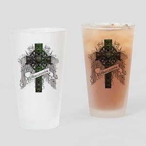 Abercrombie Tartan Cross Drinking Glass
