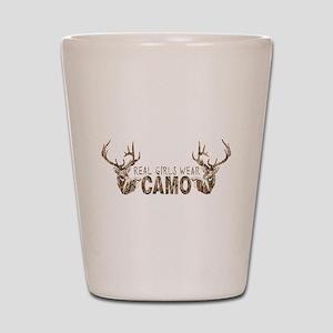 REAL GIRLS WEAR CAMO Shot Glass
