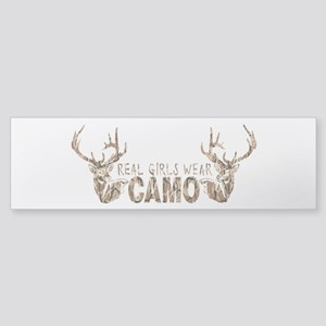 REAL GIRLS WEAR CAMO Sticker (Bumper)