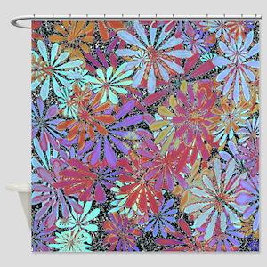 Floral Art Pattern Shower Curtain