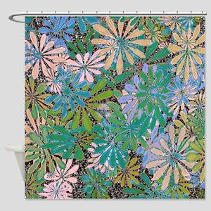Flower Art Print Shower Curtain