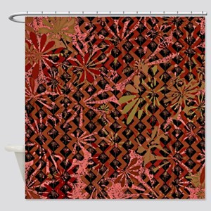 Floral Artwork Pattern Shower Curtain