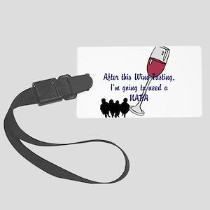 Napa Valley wine tasting Large Luggage Tag
