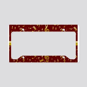 Personalized Red and gold musical notes Designer L