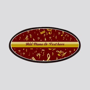 Personalized Red and gold musical notes Designer P