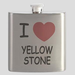 I heart yellowstone Flask