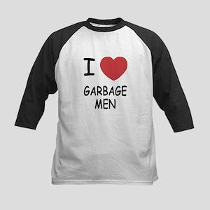 I heart garbage men Kids Baseball Jersey