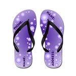 Blue Bubble Name Your Flip Flops