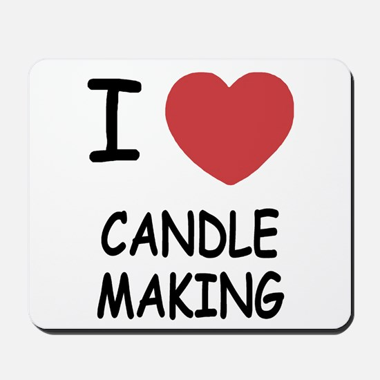 I heart candle making Mousepad