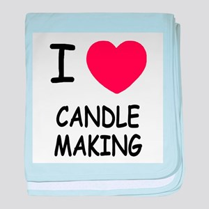 I heart candle making baby blanket