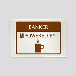 Banker Powered by Coffee Rectangle Magnet