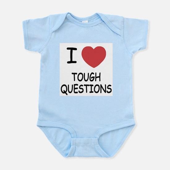 I heart tough questions Infant Bodysuit