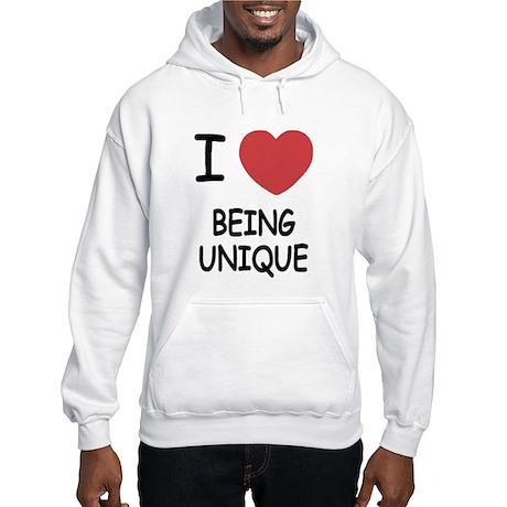 I heart being unique Hooded Sweatshirt