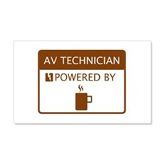 AV Technician Powered by Coffee Wall Decal