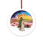 XMusic2-Wire Fox Terrier Ornament (Round)