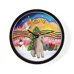 XMusic2-Wire Fox Terrier Wall Clock