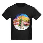 XMusic2-Wire Fox Terrier Kids Dark T-Shirt
