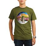XMusic2-Wire Fox Terrier Organic Men's T-Shirt (da