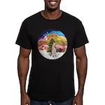 XMusic2-Wire Fox Terrier Men's Fitted T-Shirt (dar