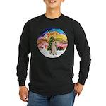 XMusic2-Wire Fox Terrier Long Sleeve Dark T-Shirt