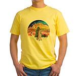 XMusic2-Wire Fox Terrier Yellow T-Shirt