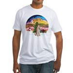 XMusic2-Wire Fox Terrier Fitted T-Shirt