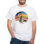 XMusic2-Wire Fox Terrier White T-Shirt