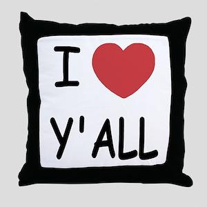 I heart yall Throw Pillow