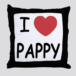 I heart pappy Throw Pillow