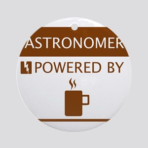 Astronomer Powered by Coffee Ornament (Round)