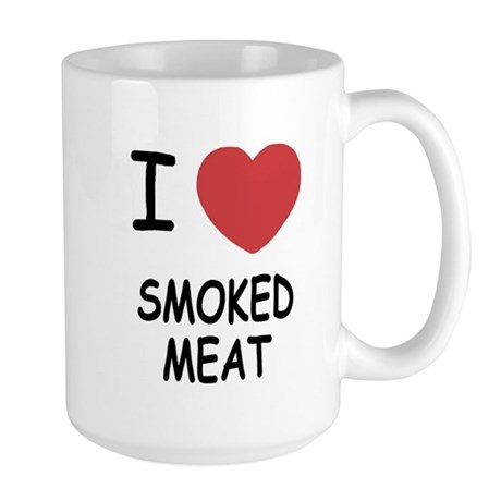 I heart smoked meat Large Mug
