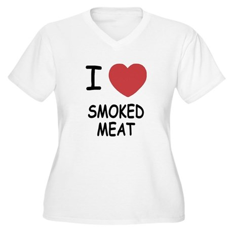 I heart smoked meat Women's Plus Size V-Neck T-Shi