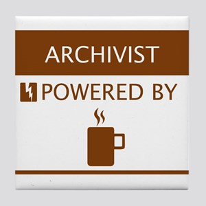Archivist Powered by Coffee Tile Coaster