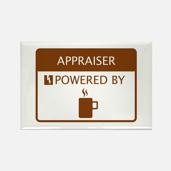 Appraiser Powered by Coffee Rectangle Magnet