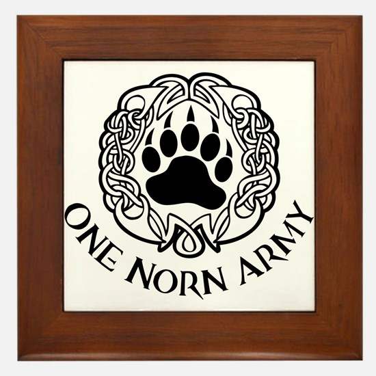 One Norn Army Framed Tile
